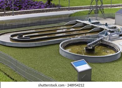 Waste water treatment plant, Madurodam Miniature Town, Netherlands