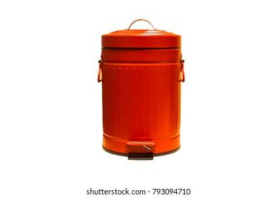 a  wastebasket isolated on white background