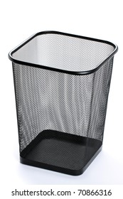 Wastebasket on white background