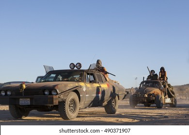 Wasteland Weekend, California City, California: September 22 thru 25, 2016. The annual Wasteland Weekend Festival, a four-day camping event celebrating the Mad Max films and Post-Apocalyptic Culture.