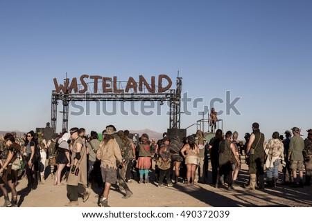 wasteland weekend california city california september の写真素材