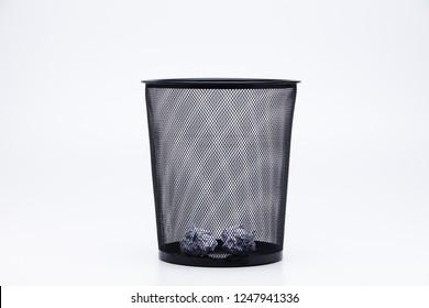 Wastepaper basket half