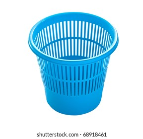 wastepaper basket isolated on white