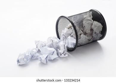 Wastepaper basket tumbled