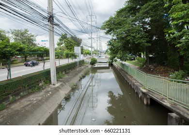 Wastewater in the canal