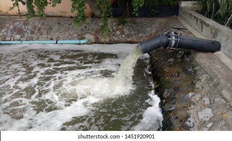 Wastewater that has been discharged through sewers, public canals without quality treatment