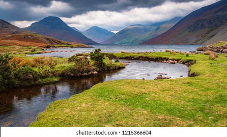 Wastwater with Scafell Pike beyond, situated in Wasdale in the English Lake District now a Unesco World Heritage Site