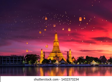 Wat Arun is one of the well-known landmarks of Thailand, Wat Arun is the royal temple that the Thai monarch uses for water Kathin of Bangkok, Thailand.