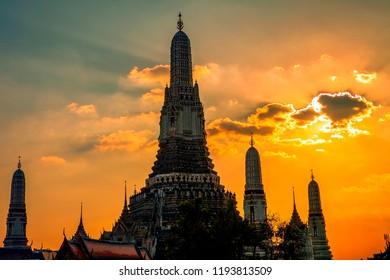 wat arun pagoda landmark of bangkok thailand capital