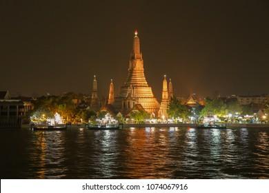 Wat Arun Ratchawararam Ratchawaramahawihan or Wat Arun in Bangkok Yai district of Bangkok, Thailand, on the Thonburi west bank of the Chao Phraya River