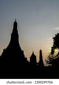 "Wat Arun Ratchawararam Ratchawaramahawihan or Wat Arun ""Temple of Dawn""  west bank of the Chao Phraya River. A Buddhist temple had existed since the time of the Ayutthaya Kingdom BANGKOK THAILAND"