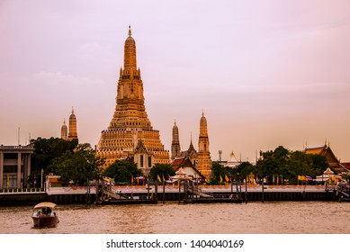 Wat Arun or Wat Arun Ratchawararam Ratchawaramahawihan (Temple of Dawn)  is a temple on the Thonburi west bank of the Chao Phraya River  Wat Arun is among the best known of Thailand's landmark.