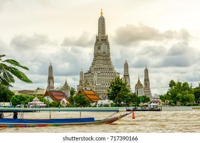 Wat Arun Temple after renovation, Bangkok, Thailand