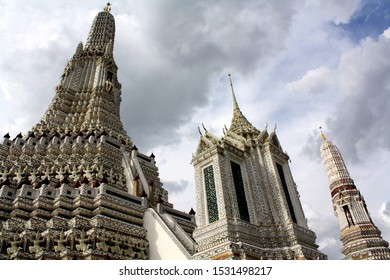 Wat Arun temple area with three main buildings
