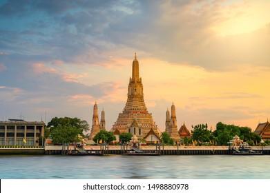 Wat Arun Temple in bangkok Thailand. Wat Arun is a Buddhist temple in Bangkok Yai district of Bangkok, Thailand