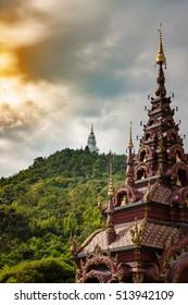 wat ban pong temple in Hangdong, Chiangmai, Northern Thailand