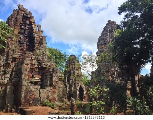 Wat Banan Temple in Battambang, Cambodia