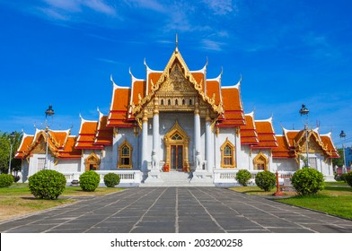 Wat Benchamabophit or Marble temple in Bangkok, Thailand