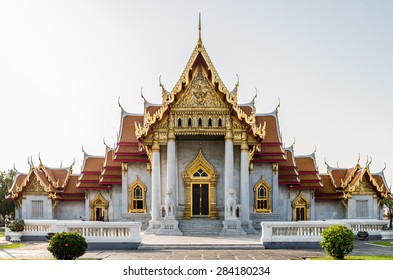 Wat Benchamabophit or Marble temple in Thailand