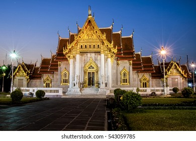 Wat benchamabophit at night in Bangkok.