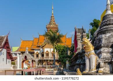 Wat Buppharam temple in Chiang Mai, Thailand