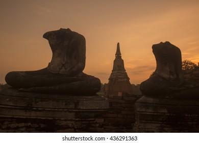 the Wat chai wattanaram in the city of Ayutthaya north of bangkok in Thailand in southeastasia.