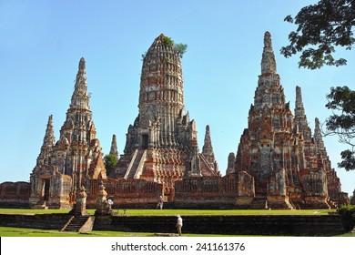 Wat Chai Watthanaram temple Ayutthaya Historical Park, UNESCO World Heritage Site, Thailand, backside