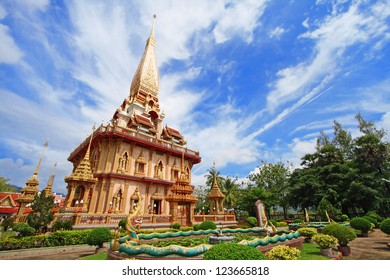 WAT CHAITHARAM or Wat Chalong TEMPLE in Phuket thailand