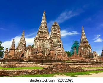 Wat chaiwatanaram ayurhaya Thailand temple vintage classic