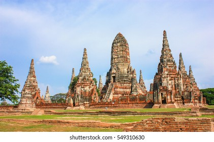 Wat Chaiwattanaram, the most one beautiful and perfect ancient remains in Ayutthaya, Thailand