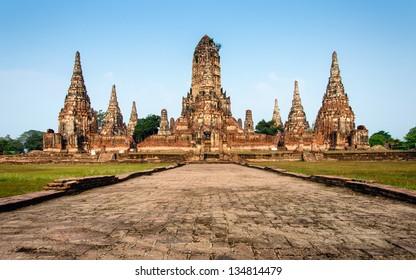 Wat Chaiwattanaram temple in Ayutthaya Historical Park at daytime, Ayutthaya province, Thailand