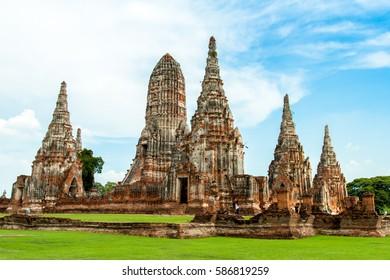Wat Chaiwatthanaram of Ayuthaya, Thailand