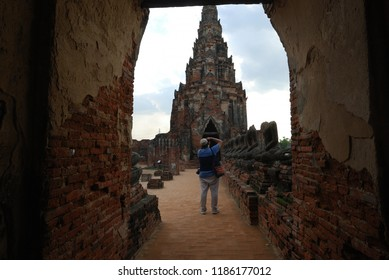 Wat Chaiwatthanaram in Ayutthaya of Thailand