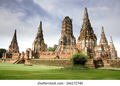 wat Chaiwatthanaram is beautiful Buddhist temple in the city of Ayutthaya historical park, famous temple