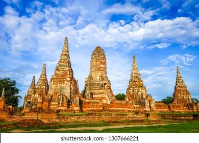 Wat Chaiwatthanaram buddhist temple in Ayutthaya, Thailand