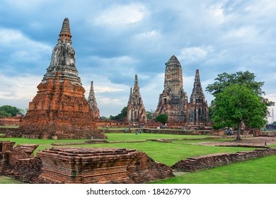 Wat Chaiwatthanaram. Buddhist temple in the city of Ayutthaya, Thailand