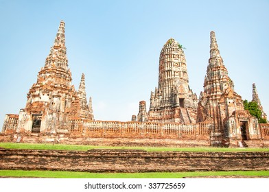 Wat Chaiwatthanaram, Buddhist temple in the city of Ayutthaya Historical Park, Thailand. This temple is public place.