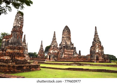 Wat Chaiwatthanaram is a Buddhist temple in the city of Ayutthaya Historical Park, Thailand near Chao Phraya River is on Ayutthaya island