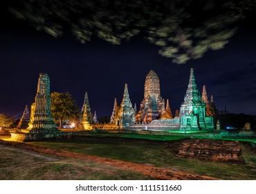Wat Chaiwatthanaram temple in Ayuthaya Historical Park  a UNESCO world heritage site  Thailand