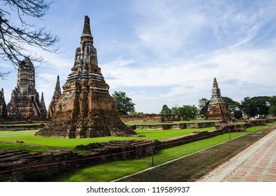 Wat Chaiwatthanaram Temple in Ayuthaya, Thailand
