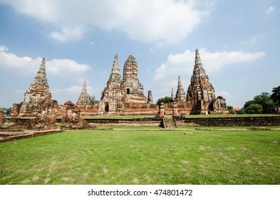 Wat Chaiwatthanaram Temple of Ayutthaya Province. Ayutthaya Historical Park, Thailand