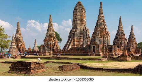 Wat ChaiwatthanaramAyutthayaThailand01 March, 2018 The ruins of Wat Chaiwatthananaram