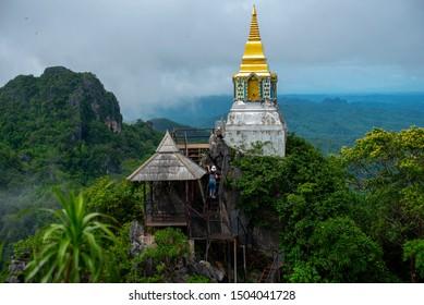 Wat Chaloem Phra Kiat Phrachomklao Rachanusorn,Wat Praputthabaht Sudthawat pu pha daeng a public temple on the hill in Lampang Unseen Thailand.