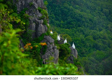 Wat Chaloem Phra Kiat(Wat Praputthabaht Sudthawat) temple in Chae Hom, Lampang, Thailand. Unseen Thailand. Religion and Travel Concept