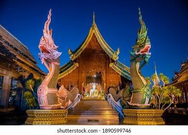 Wat Den Salee Sri Muang Gan (Wat Ban Den) temple, Chiang Mai province.  THAILAND