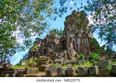 Wat Ek Phnom (temple) in Battambang, Cambodia