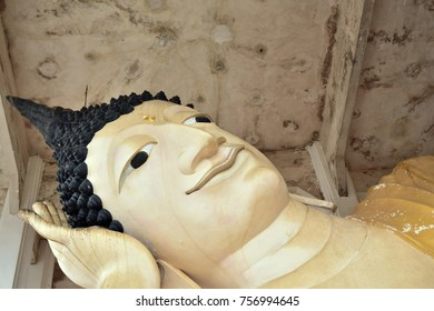 Wat Hat Yai Nai is the site of a large reclining Buddha statue golden statues in Temple in Songkhla Thailand, believed to be the third largest reclining Buddha in the world - revered Thai and foreign