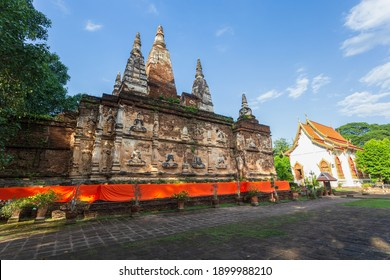 Wat Jed Yod, Beautiful old temple in northern Thailand at Chiang Mai Province, Thailand