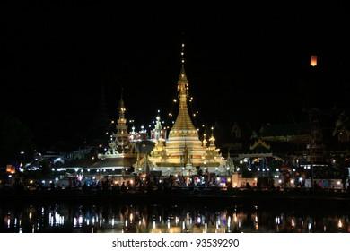 Wat Jong Klang in Maehongson, North of Thailand