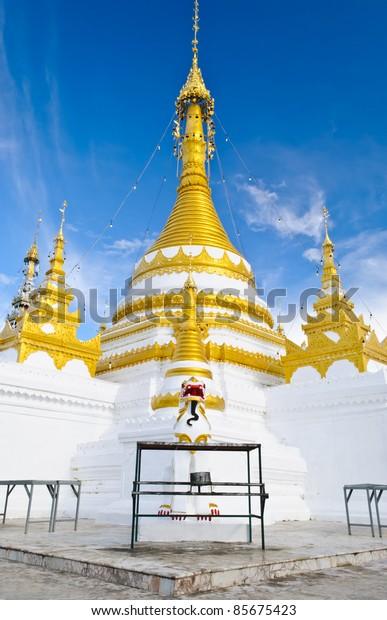 Wat Jong Klang temple in Mae Hong Son City, Northern Thailand.